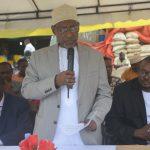 Waziri wa Afya Hamad Rashid Mohamed akitoa hotuba katika hafla ya siku ya Wachangia Damu Duniani(WORLD BLOOD DONOR DAY)iliofanyika Uwanja wa Mwanakwerekwe Sokoni mjini Zanzibar.